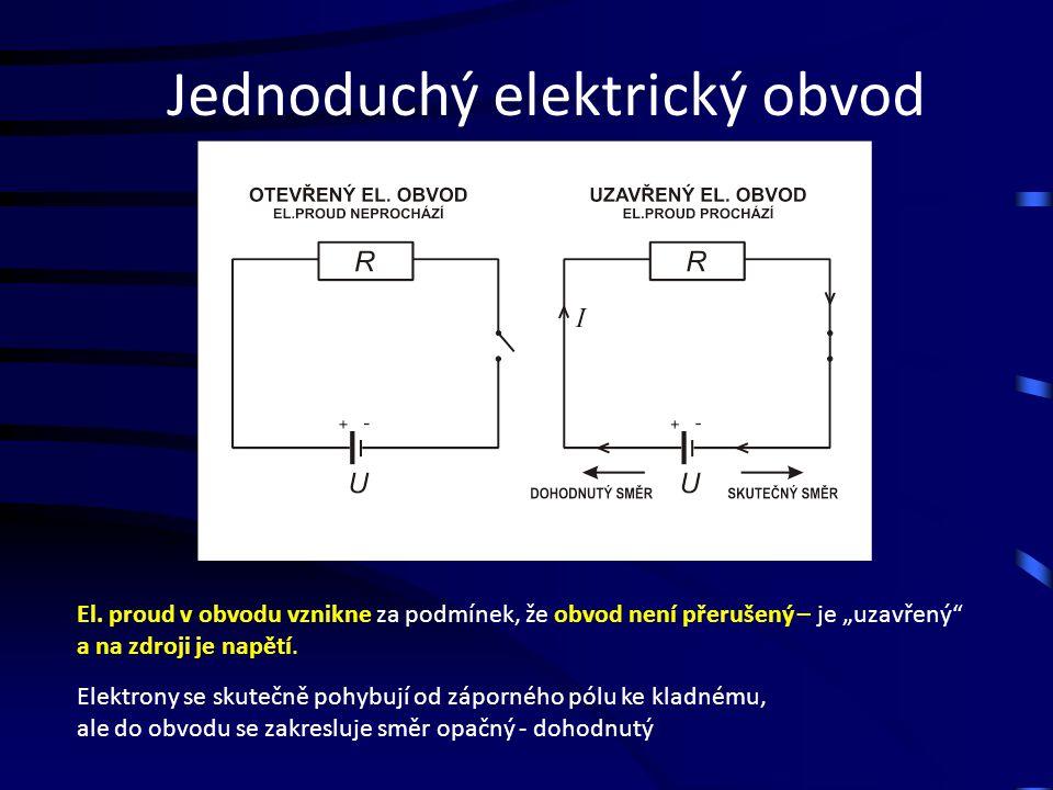 Jednoduchý elektrický obvod El.