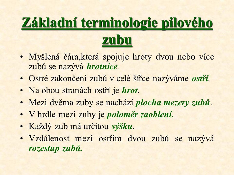Hlavní směry řezání Dřevo není homogenní (stejnorodý) materiál.