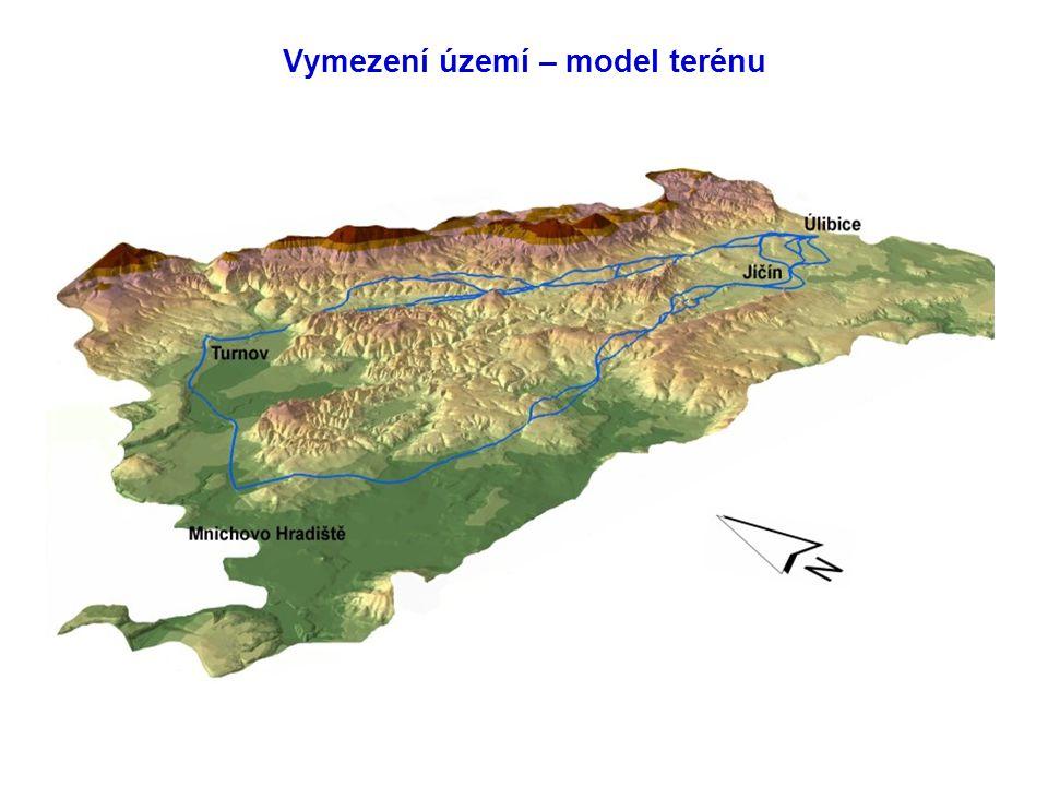Vymezení území – model terénu
