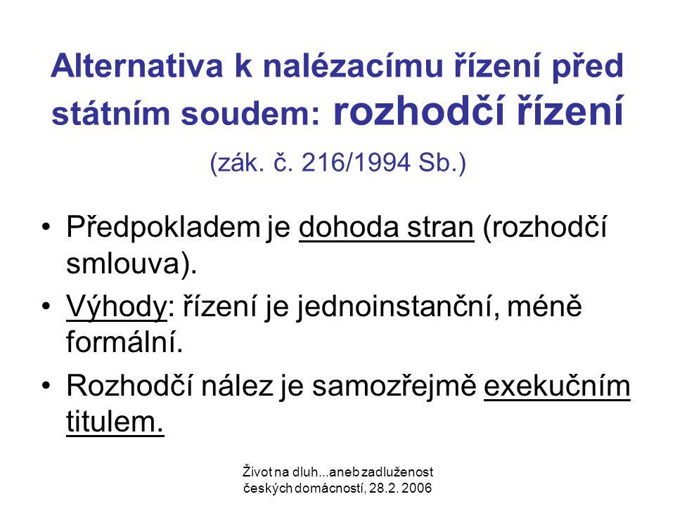 Život na dluh...aneb zadluženost českých domácností, 28.2.