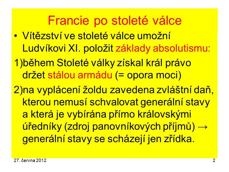 Francie za vlády Františka I.
