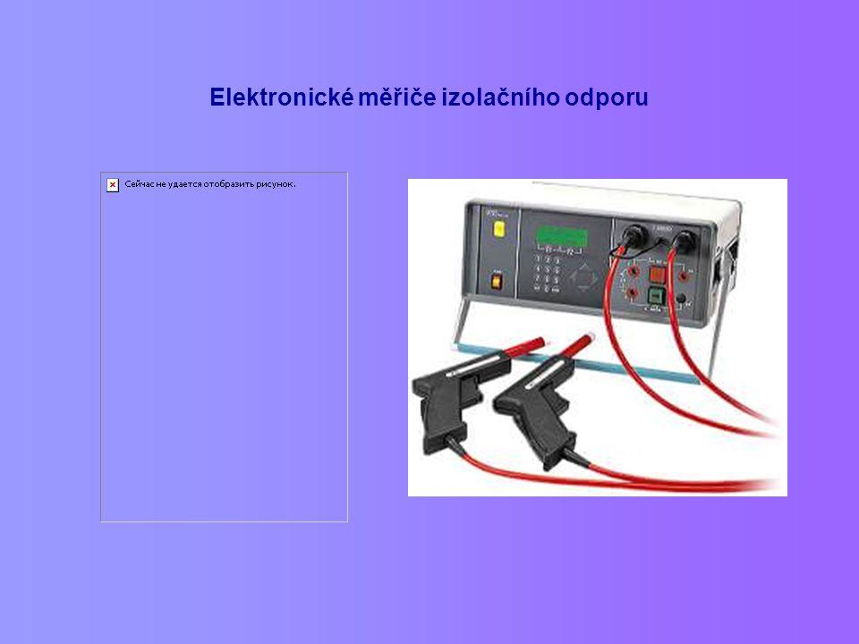 Elektronické měřiče izolačního odporu