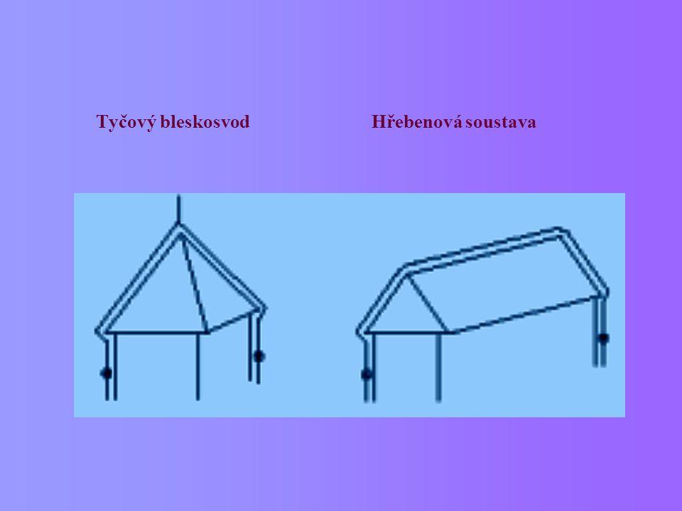 Tyčový bleskosvod Hřebenová soustava