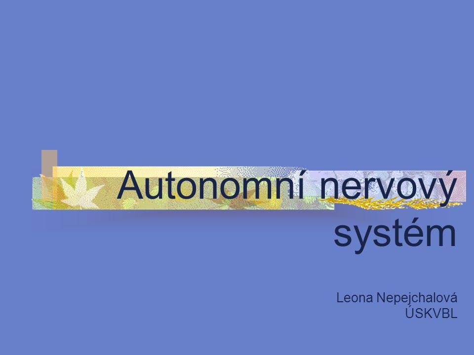 Autonomní nervový systém Leona Nepejchalová ÚSKVBL
