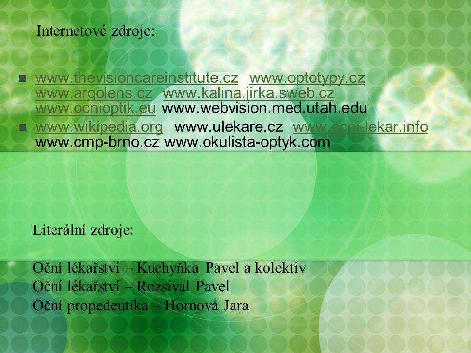 www.thevisioncareinstitute.cz www.optotypy.cz www.argolens.cz www.kalina.jirka.sweb.cz www.ocnioptik.eu www.webvision.med.utah.edu www.thevisioncarein