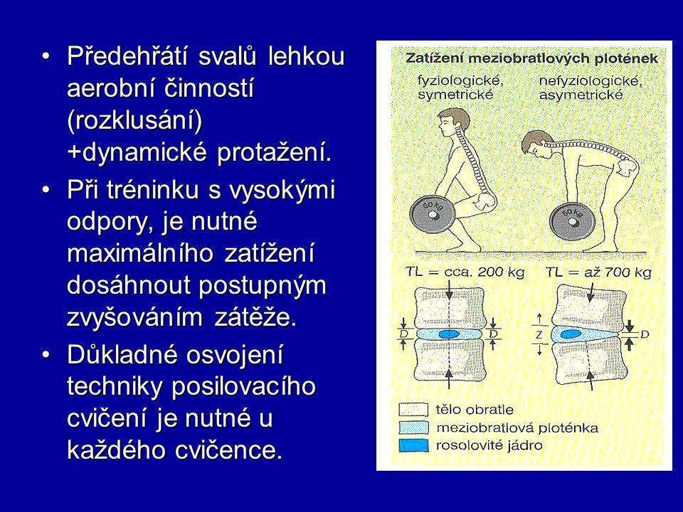 Předehřátí svalů lehkou aerobní činností (rozklusání) +dynamické protažení.Předehřátí svalů lehkou aerobní činností (rozklusání) +dynamické protažení.