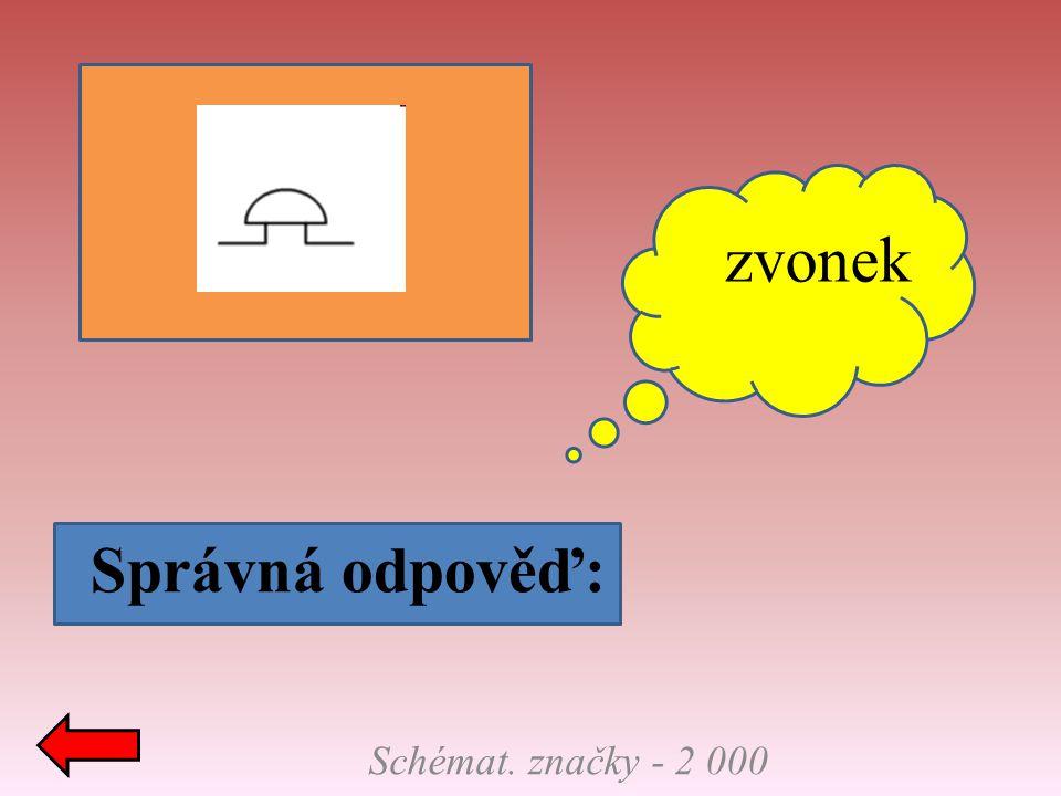 Schémat. značky - 3 000 Správná odpověď: voltmetr