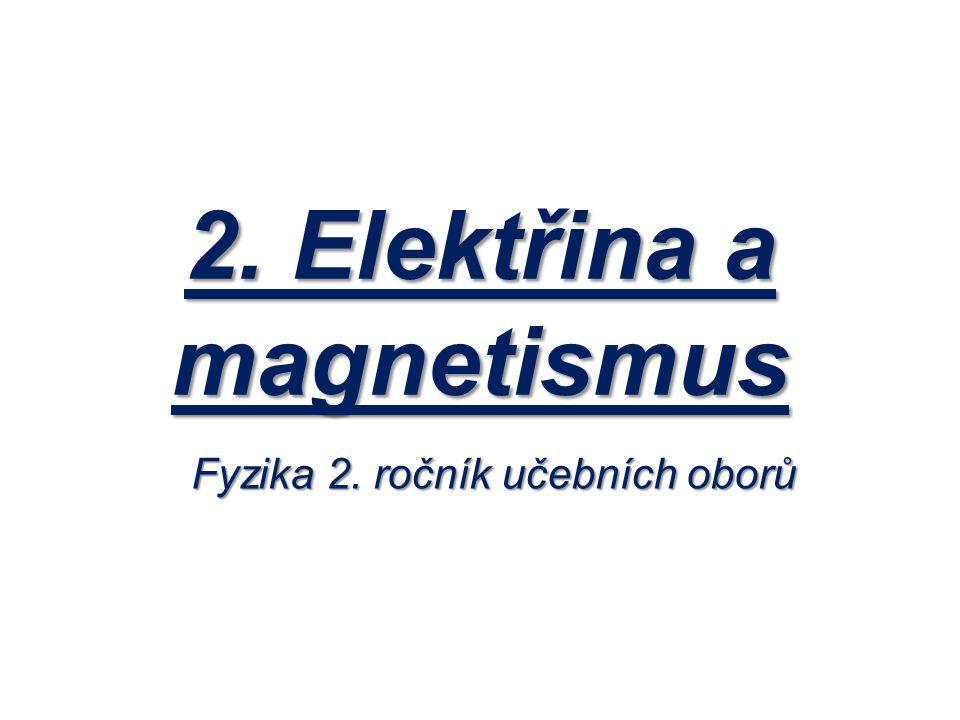 2. Elektřina a magnetismus Fyzika 2. ročník učebních oborů