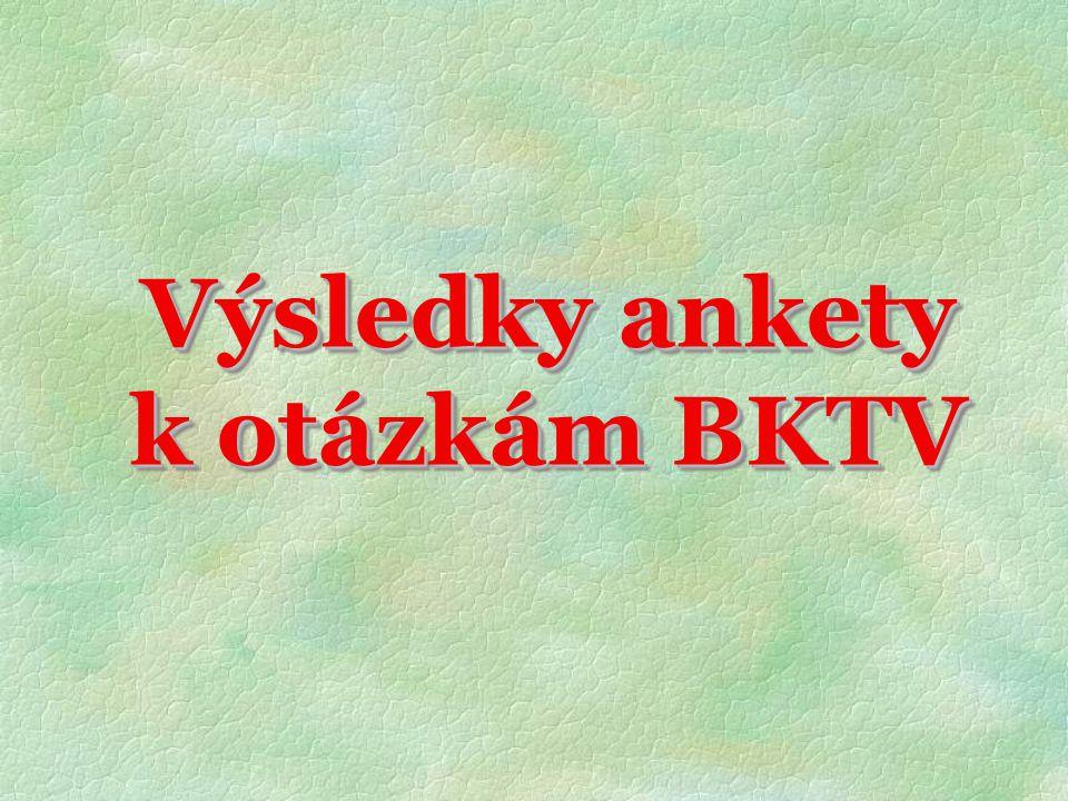 Výsledky ankety k otázkám BKTV