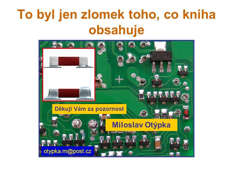 To byl jen zlomek toho, co kniha obsahuje Miloslav Otýpka otypka.m@post.cz Děkuji Vám za pozornost