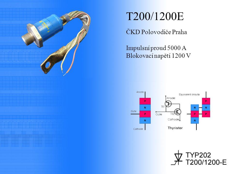 T200/1200E ČKD Polovodiče Praha Impulsní proud 5000 A Blokovací napětí 1200 V