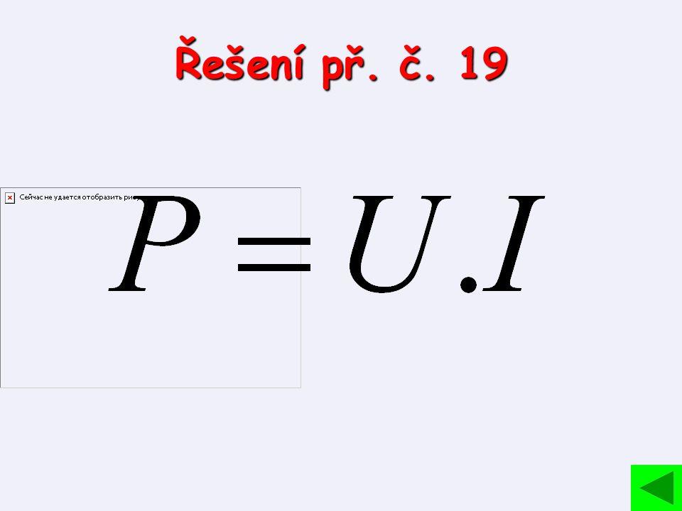 Řešení př. č. 19
