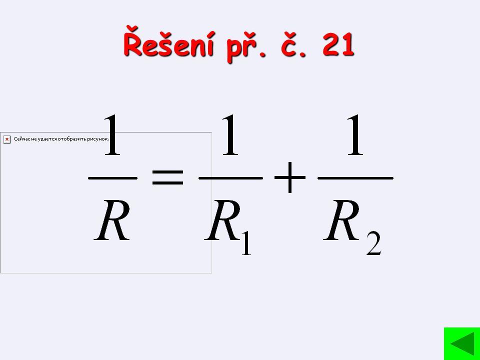 Řešení př. č. 21