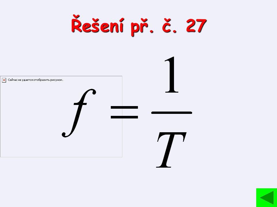 Řešení př. č. 27