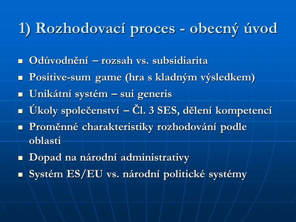 1) Rozhodovací proces - obecný úvod Odůvodnění – rozsah vs. subsidiarita Odůvodnění – rozsah vs. subsidiarita Positive-sum game (hra s kladným výsledk