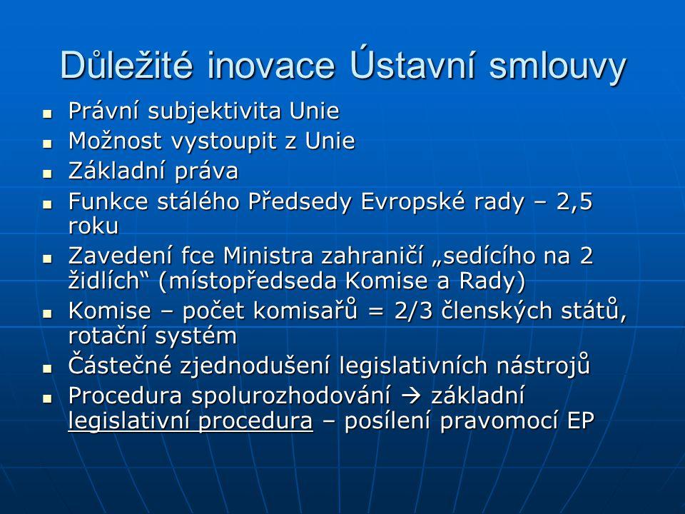 Mandát EU (2) Cíle EU nad rámec Společenství (čl.