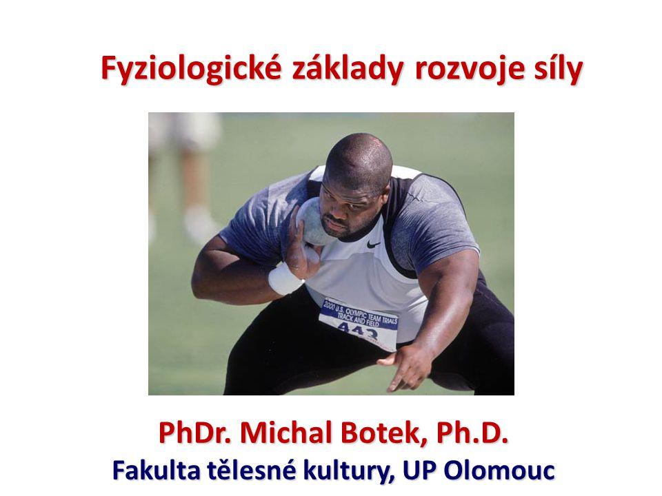 pohybová schopnost překonat, udržet nebo brzdit určitý odpor.