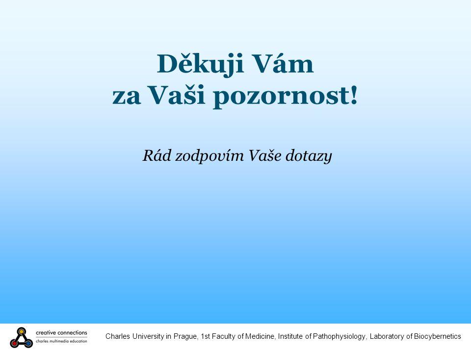 Charles University in Prague, 1st Faculty of Medicine, Institute of Pathophysiology, Laboratory of Biocybernetics Děkuji Vám za Vaši pozornost.