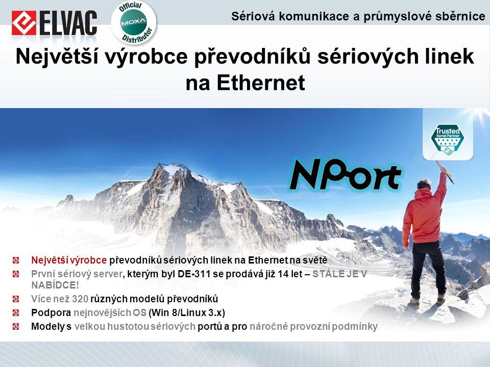 Největší výrobce převodníků sériových linek na Ethernet na světě První sériový server, kterým byl DE-311 se prodává již 14 let – STÁLE JE V NABÍDCE! V