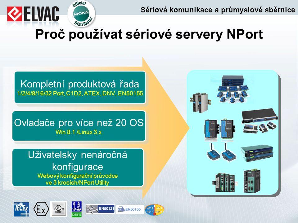 Proč používat sériové servery NPort Uživatelsky nenáročná konfigurace Webový konfigurační průvodce ve 3 krocích/NPort Utility Uživatelsky nenáročná ko