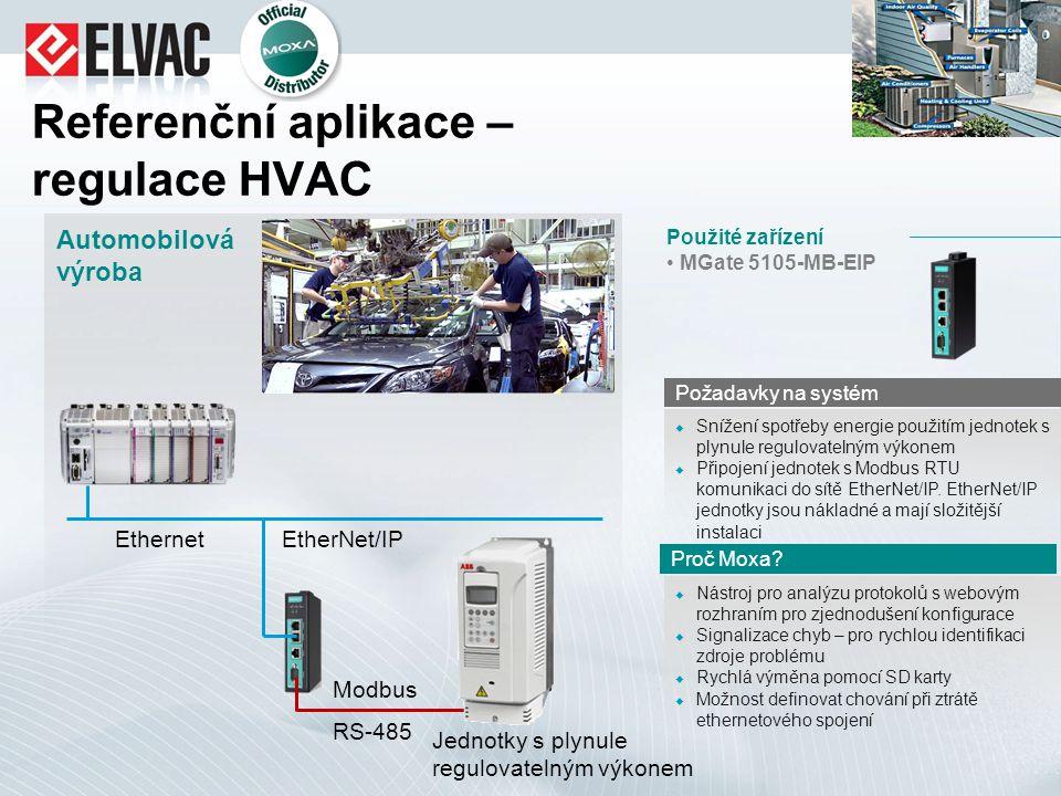 Referenční aplikace – regulace HVAC  Nástroj pro analýzu protokolů s webovým rozhraním pro zjednodušení konfigurace  Signalizace chyb – pro rychlou
