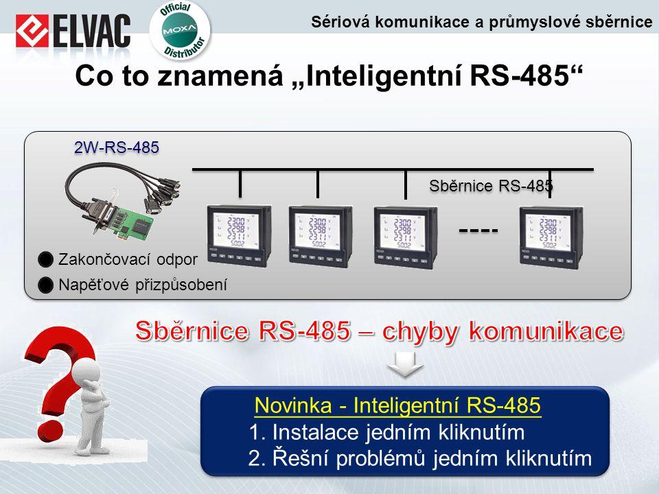 """Co to znamená """"Inteligentní RS-485"""" 2W-RS-485 Sběrnice RS-485 Zakončovací odpor Napěťové přizpůsobení Novinka - Inteligentní RS-485 1. Instalace jední"""