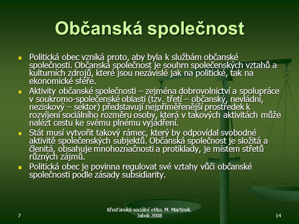 7 Křesťanská sociální etika. M. Martinek.