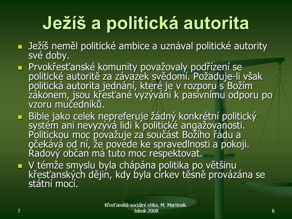7 Křesťanská sociální etika.M. Martinek.