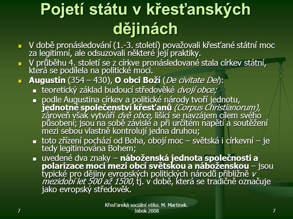 7 Křesťanská sociální etika.M. Martinek. Jabok 200818 Další politické systémy 20.