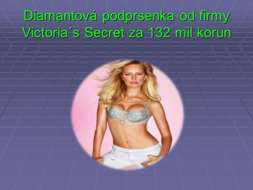 Diamantová podprsenka od firmy Victoria´s Secret za 132 mil korun