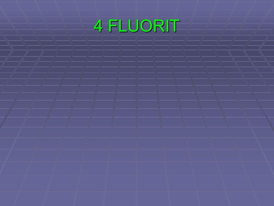 4. Štěpnost = rozpad dle krystalických ploch, oddělování v rovných plochách