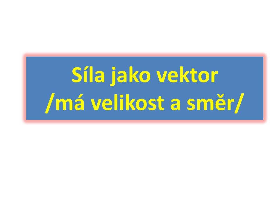 Síla jako vektor /má velikost a směr/