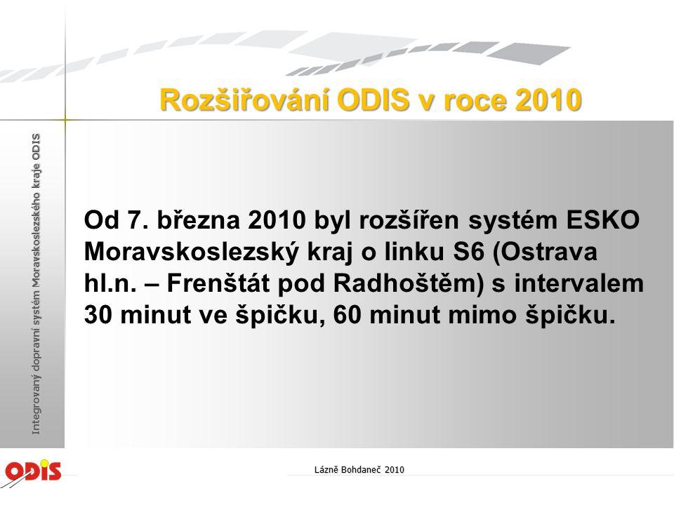 Od 7. března 2010 byl rozšířen systém ESKO Moravskoslezský kraj o linku S6 (Ostrava hl.n. – Frenštát pod Radhoštěm) s intervalem 30 minut ve špičku, 6