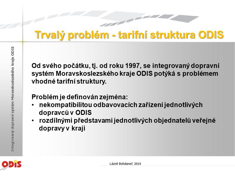 Od svého počátku, tj. od roku 1997, se integrovaný dopravní systém Moravskoslezského kraje ODIS potýká s problémem vhodné tarifní struktury. Problém j