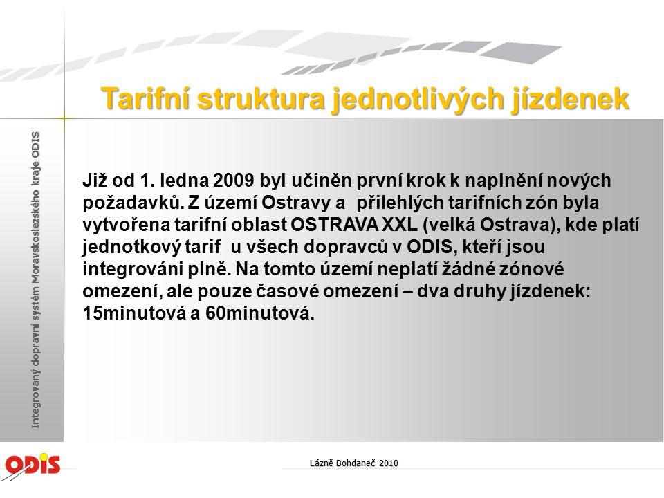 Již od 1. ledna 2009 byl učiněn první krok k naplnění nových požadavků. Z území Ostravy a přilehlých tarifních zón byla vytvořena tarifní oblast OSTRA