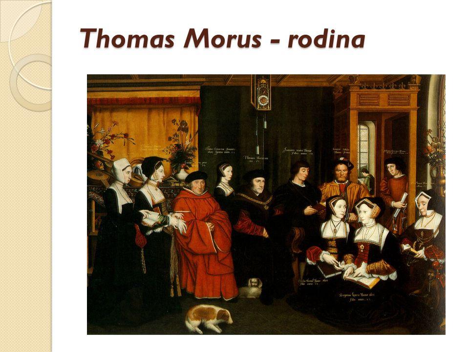 Thomas Morus - rodina