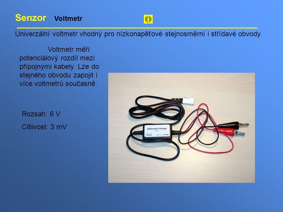 Senzor Voltmetr Univerzální voltmetr vhodný pro nízkonapěťové stejnosměrní i střídavé obvody.