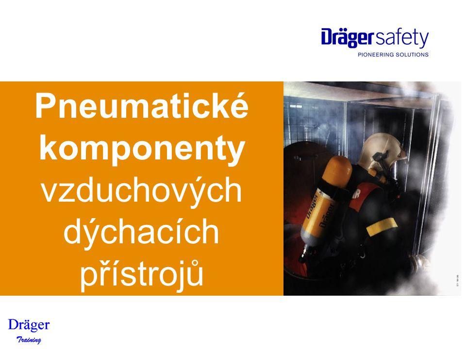 Pneumatické komponenty vzduchových dýchacích přístrojů Dräger