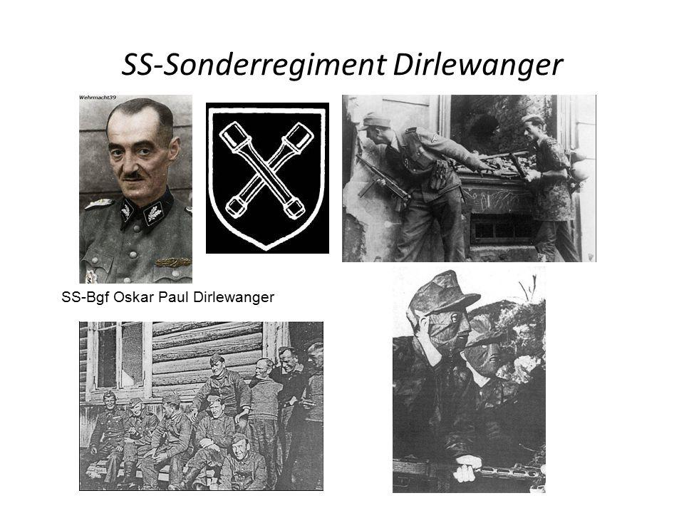 SS-Sonderregiment Dirlewanger SS-Bgf Oskar Paul Dirlewanger