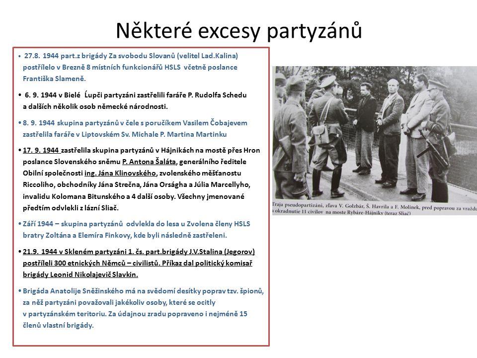 Některé excesy partyzánů 27.8.