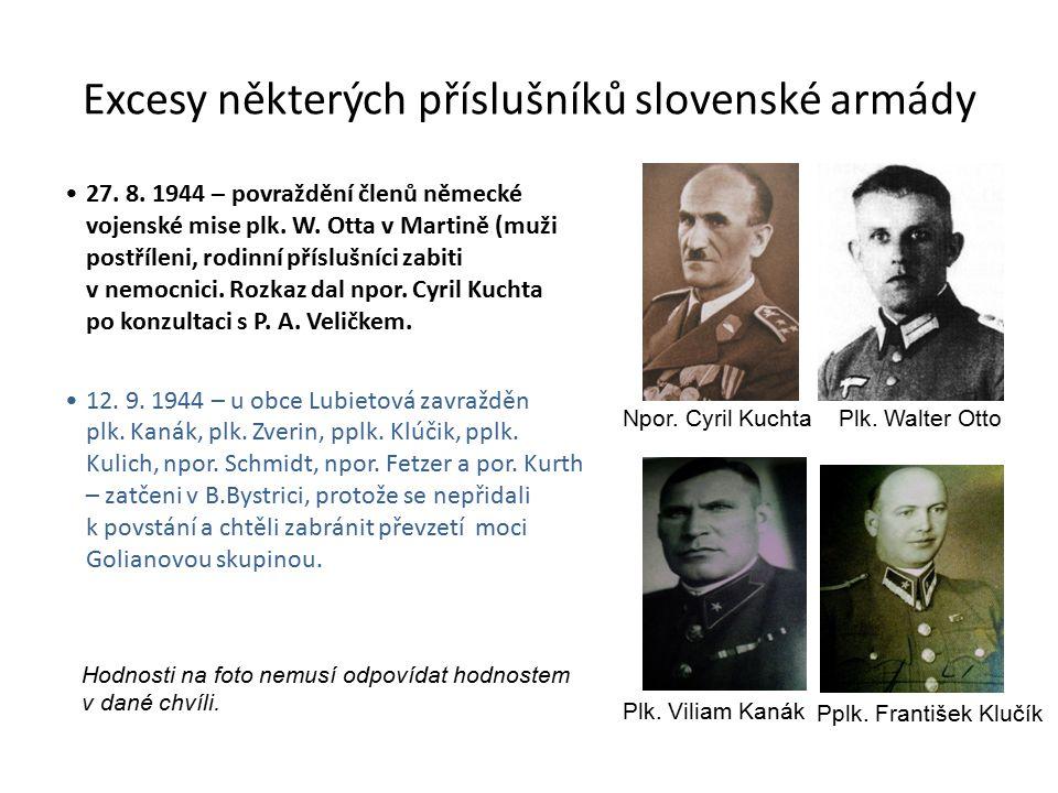 Excesy některých příslušníků slovenské armády 27.8.