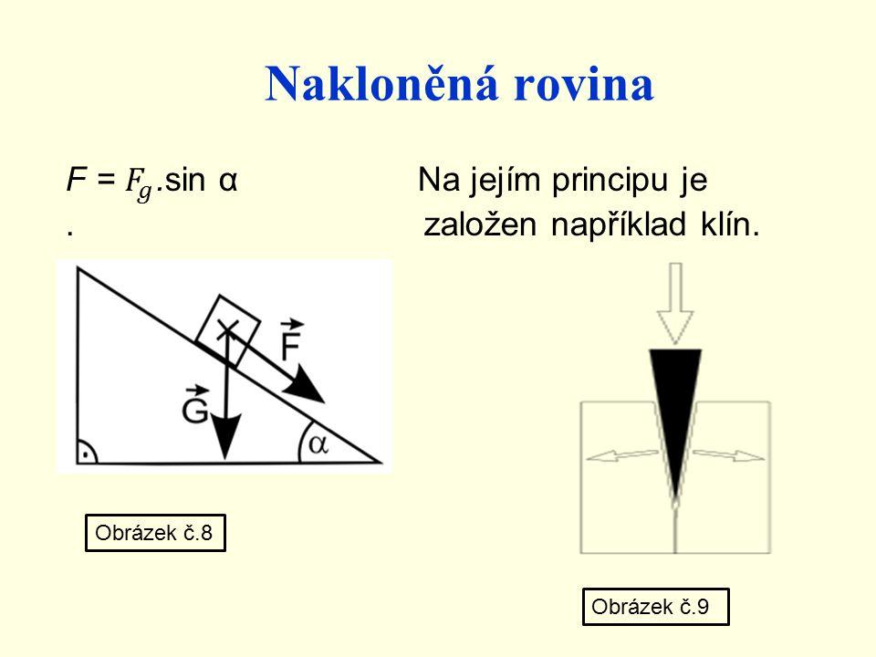 Nakloněná rovina Obrázek č.8 Obrázek č.9