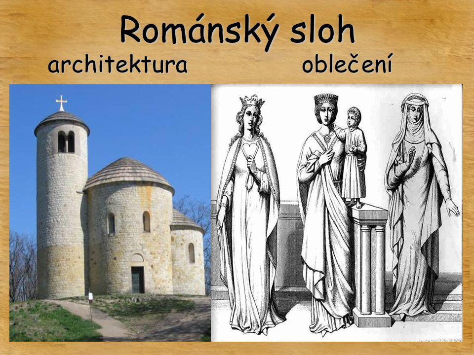 Románský sloh oblečeníarchitektura
