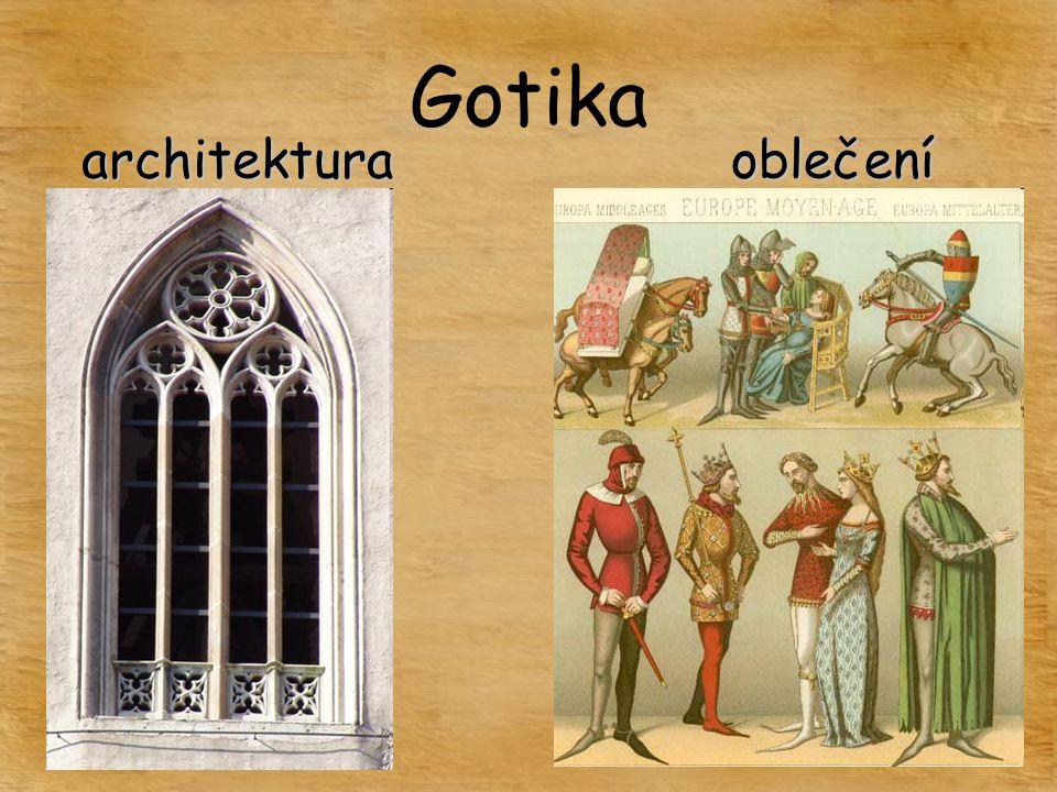 Gotika architekturaoblečení