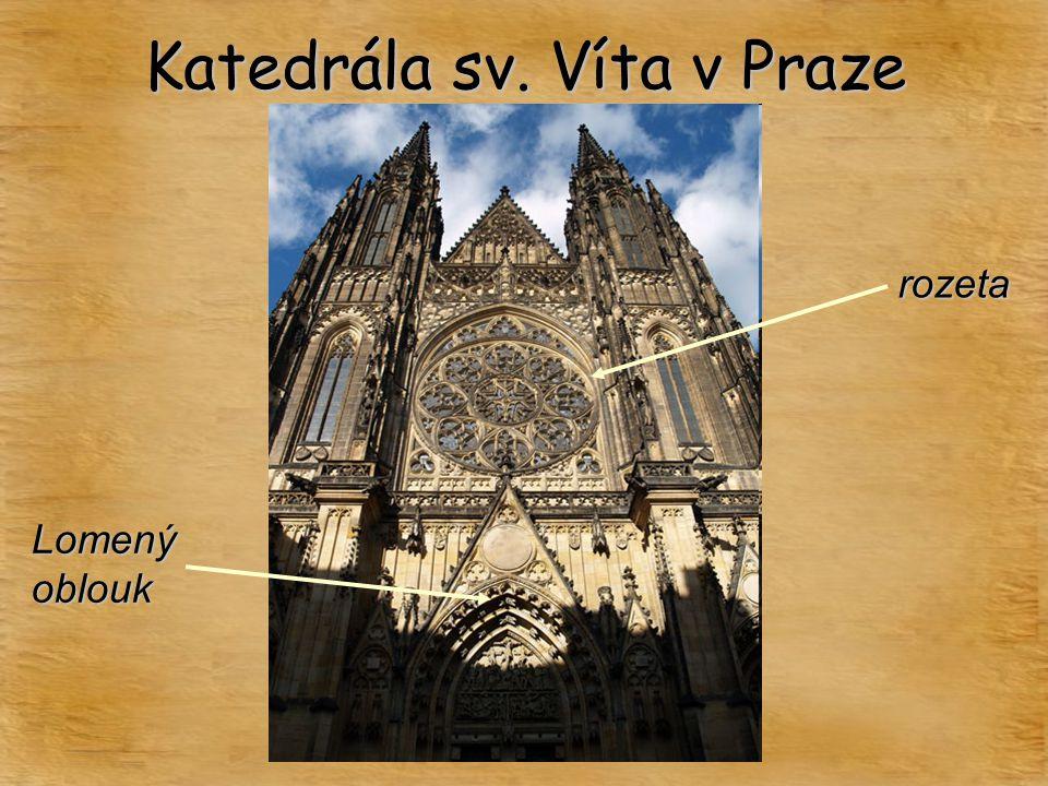 Katedrála sv. Víta v Praze rozeta Lomený oblouk