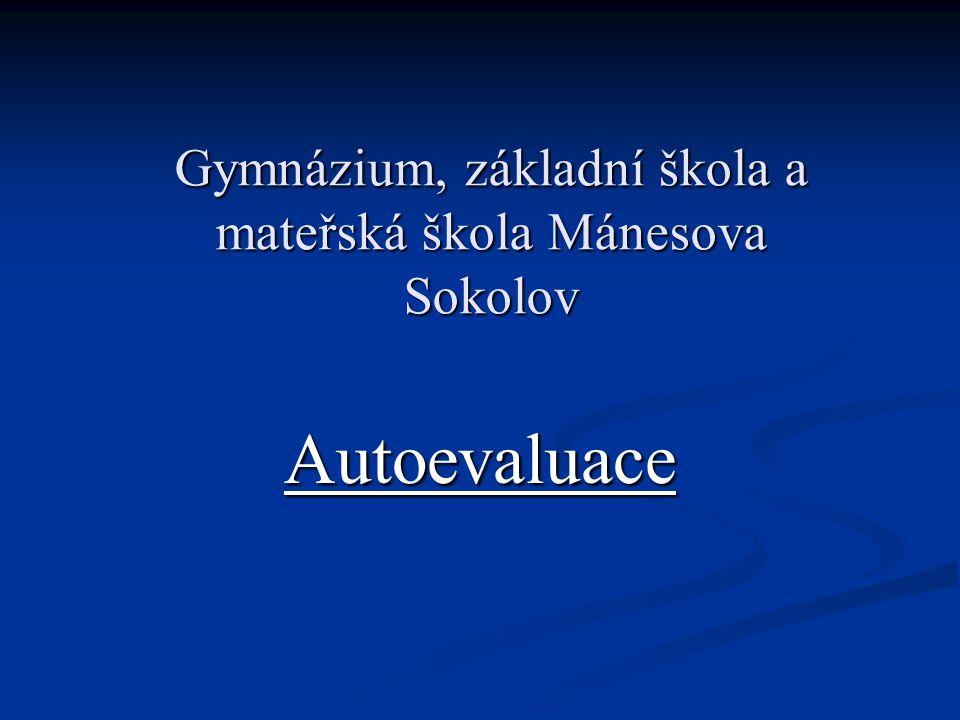 Gymnázium, základní škola a mateřská škola Mánesova Sokolov Autoevaluace