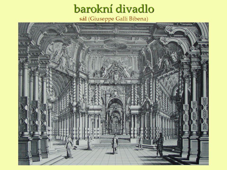 barokní divadlo barokní divadlo sál (Giuseppe Galli Bibena)