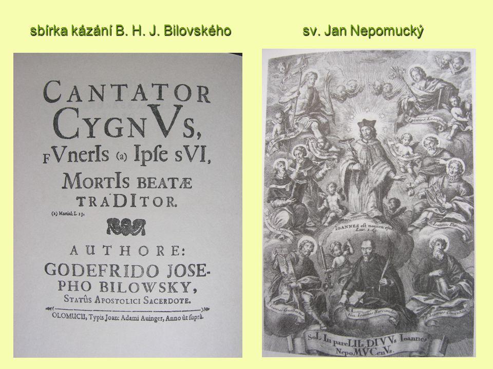 sbírka kázání B. H. J. Bilovského sv. Jan Nepomucký