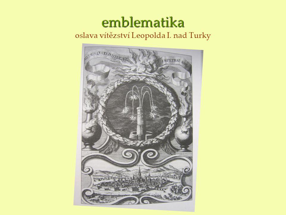emblematika emblematika oslava vítězství Leopolda I. nad Turky
