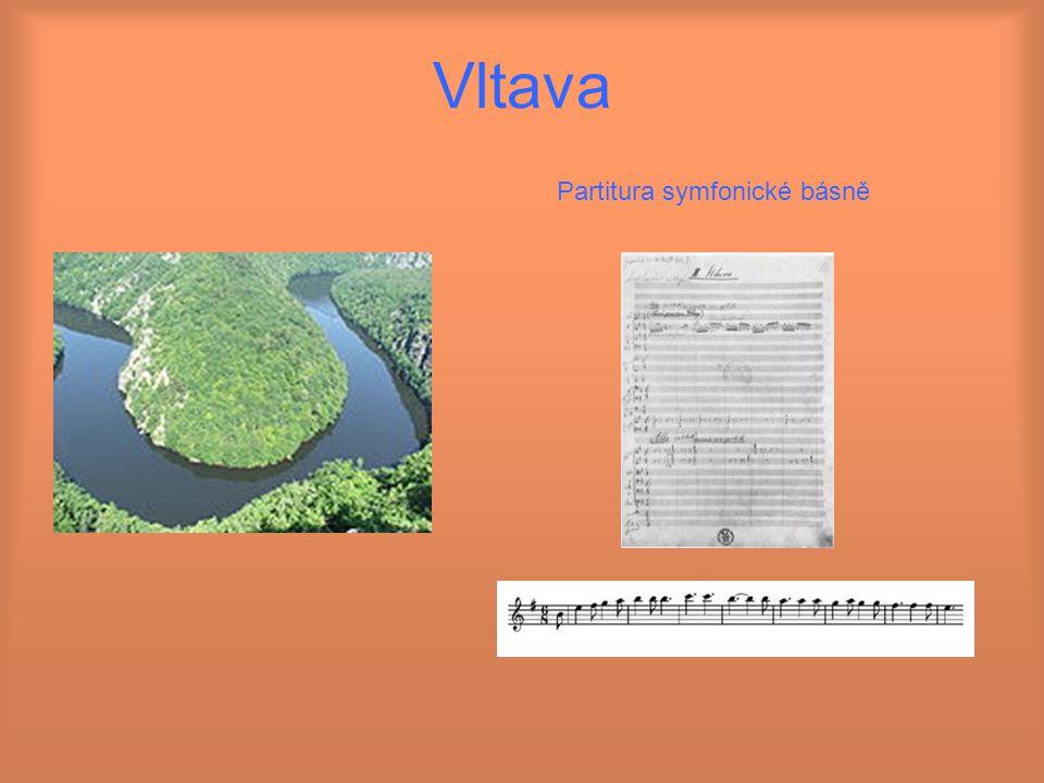 Vltava Partitura symfonické básně